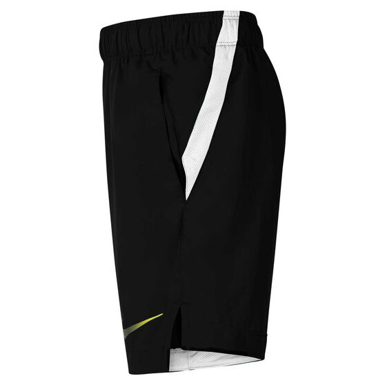 Nike Boys Instacool Training Shorts, Black/White, rebel_hi-res