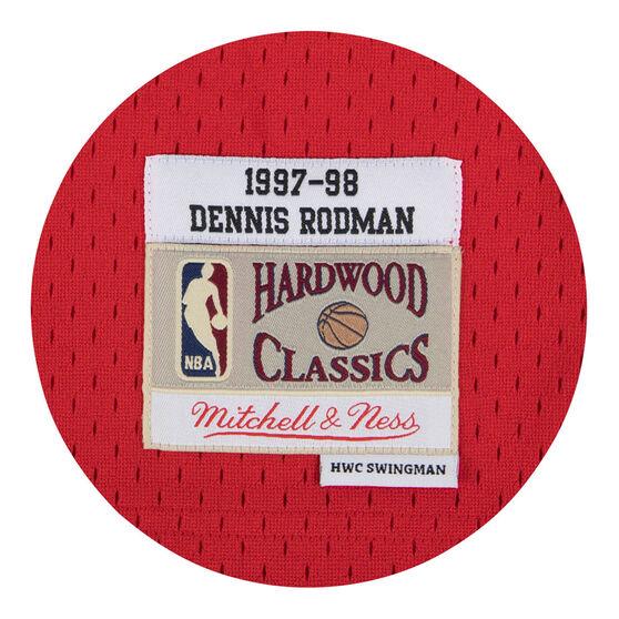 Chicago Bulls Dennis Rodman 97/98 Mens Swingman Jersey Red M, Red, rebel_hi-res