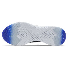 Nike Epic React Flyknit 2 Mens Running Shoes White / Blue US 8, White / Blue, rebel_hi-res