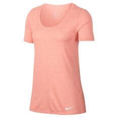 Nike Womens Dry Training Tee Pink XS, Pink, rebel_hi-res