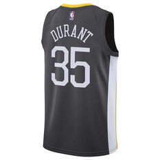 Nike Golden State Warriors Kevin Durant Statement 2018 Mens Swingman Jersey Anthracite S, Anthracite, rebel_hi-res