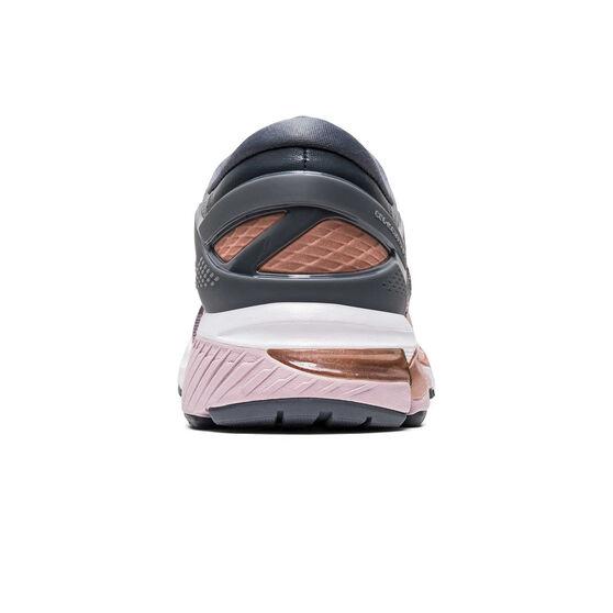 Asics GEL Kayano 26 Womens Running Shoes Grey / Pink US 7.5, Grey / Pink, rebel_hi-res