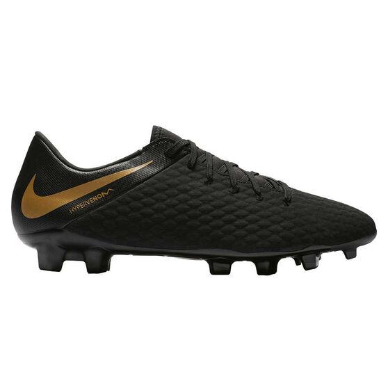 Nike Hypervenom Phantom III Academy Mens Football Boots Black   Gold US 7 97b6cb788