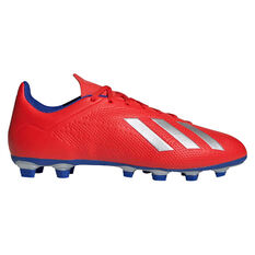 adidas X 18.4 Mens Football Boots Red / Silver US Mens 7 / Womens 8, Red / Silver, rebel_hi-res