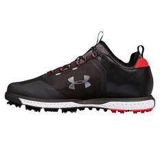 Under Armour Tempo Sport 2 Mens Golf Shoes Black / Red US 8, Black / Red, rebel_hi-res