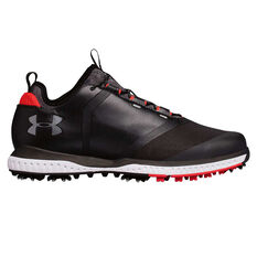 Under Armour Tempo Sport 2 Mens Golf Shoes Black / Red US 8, Black / Red, rebel_hi-res