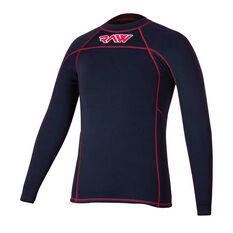 RAW Mens Superstretch Swim Top Black / Red S, Black / Red, rebel_hi-res