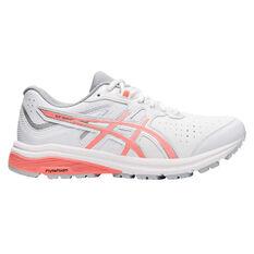 Asics GT 1000 LE D Womens Running Shoes White / Orange US 6, , rebel_hi-res