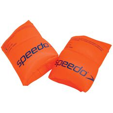 Speedo Inflatable Armbands Orange 12 +, Orange, rebel_hi-res
