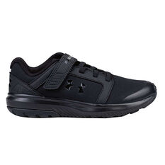 Under Armour Unlimited Uniform Kids Running Shoes Black US 11, Black, rebel_hi-res