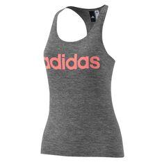 adidas Womens Essentials Linear Slim Tank Grey / Red XS Adult, Grey / Red, rebel_hi-res