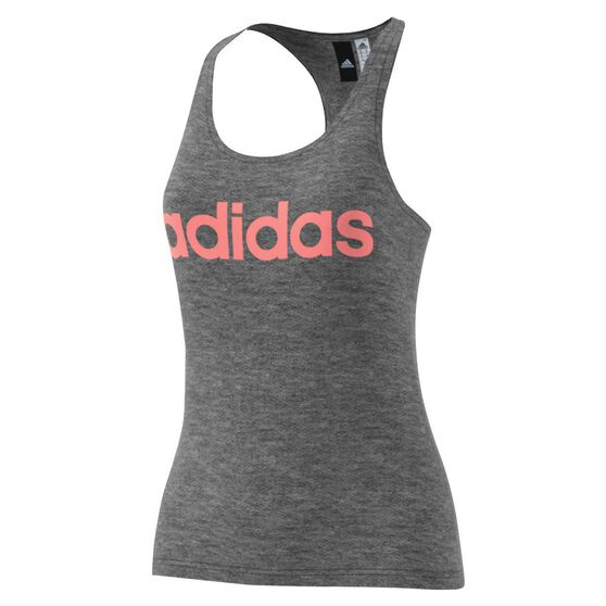 adidas Womens Essentials Linear Slim Tank Grey   Red XS Adult ... bd312be6c518a