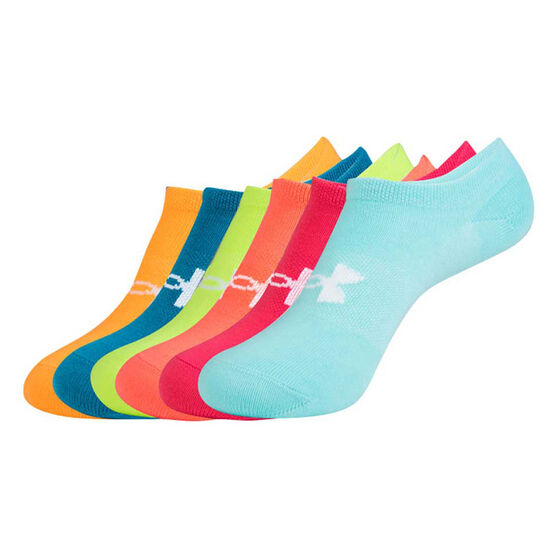 Under Armour Girls UA Solid No Show Socks, , rebel_hi-res
