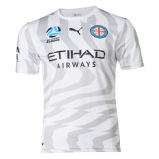 Melbourne City FC 2019/2020 Mens Away Jersey White / Grey S, White / Grey, rebel_hi-res