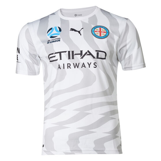 Melbourne City FC 2019/2020 Mens Away Jersey, White / Grey, rebel_hi-res