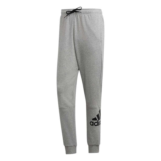 adidas Mens Must Haves French Terry Badge of Sport Pants Grey 2XL, Grey, rebel_hi-res