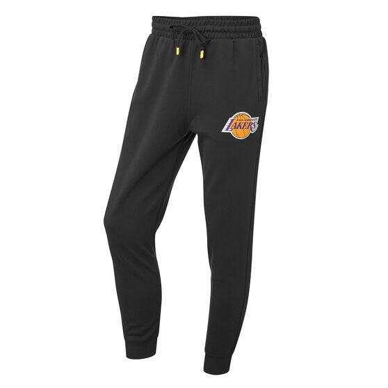 Los Angeles Lakers Mens Hometown Fleece Jogger Pants, Black, rebel_hi-res