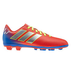 adidas Nemeziz Messi 18.4 Kids Football Boots Red / Silver US 11, Red / Silver, rebel_hi-res