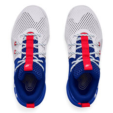 Under Armour Embiid 1 Mens Basketball Shoes, White, rebel_hi-res