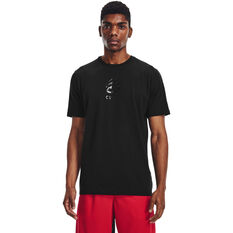 Under Armour Mens Curry Splash Tee Black XS, Black, rebel_hi-res
