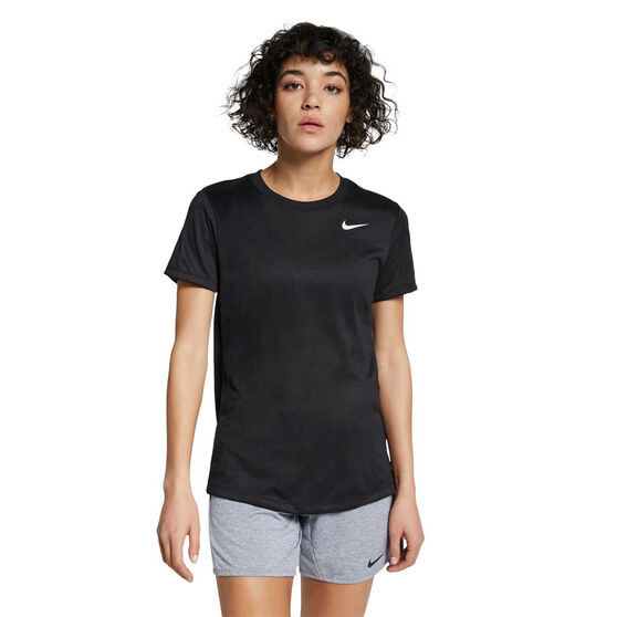 Nike Womens Dri-FIT Legend Training Tee, Black / White, rebel_hi-res