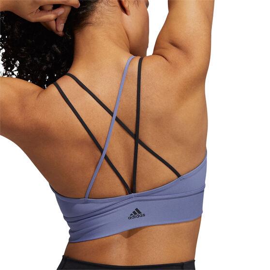 adidas Womens All Me Light Support Sports Bra, Purple, rebel_hi-res