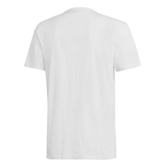 adidas Mens Must Haves Badge of Sport Tee White / Black XL, White / Black, rebel_hi-res