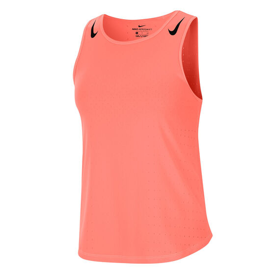 Nike Womens AeroSwift Tank Orange S, Orange, rebel_hi-res