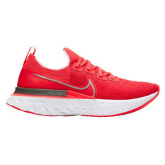 Nike React Infinity Run Flyknit Womens Running Shoes, Pink / Silver, rebel_hi-res