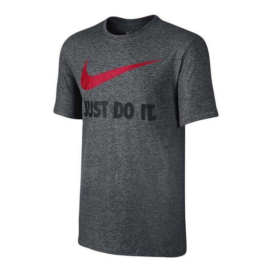 Nike Mens Just Do It Swoosh Tee Grey S, Grey, rebel_hi-res