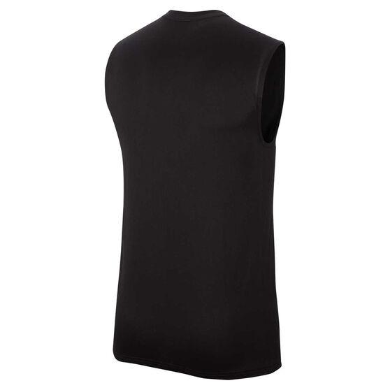 Nike Mens Dri-FIT Reverse Seasonal Singlet Black M, Black, rebel_hi-res