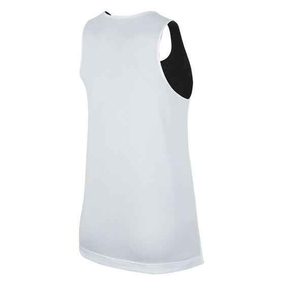 Nike Womens Swoosh Fly Reversible Basketball Jersey, Black/White, rebel_hi-res
