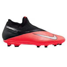 Nike Phantom Vision II Academy Football Boots Black / Red US Mens 4 / Womens 5.5, Black / Red, rebel_hi-res