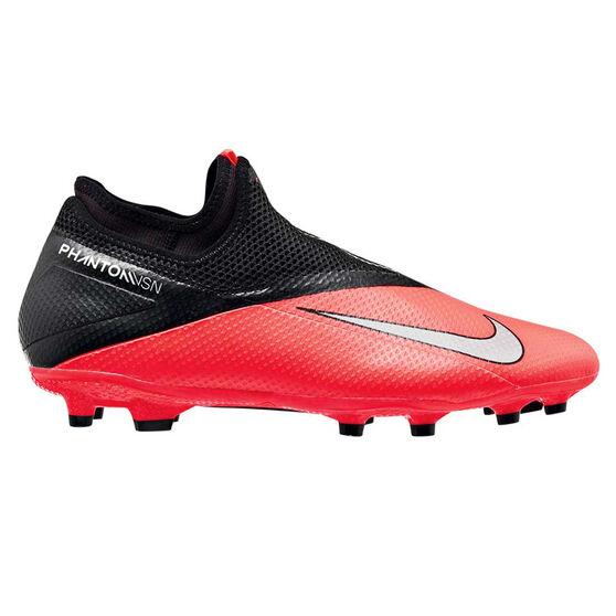 Nike Phantom Vision II Academy Football Boots, Black / Red, rebel_hi-res
