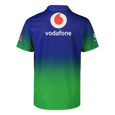 New Zealand Warriors 2021 Mens Training Polo Blue S, Blue, rebel_hi-res