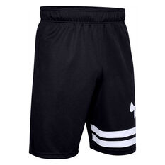 Under Armour Mens Baseline Court 10in Basketball Shorts Black S, Black, rebel_hi-res