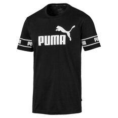 Puma Mens Amplified Tee Black S, Black, rebel_hi-res