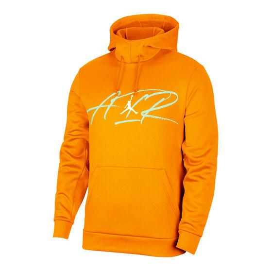 Nike Jordan Air Men's Therma Fleece Hoodie, Orange, rebel_hi-res