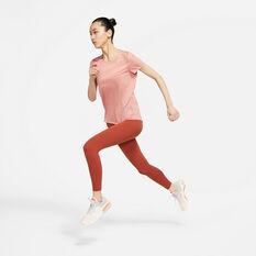 Nike Womens Miler Running Tee Pink XS, Pink, rebel_hi-res