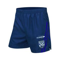 Canterbury-Bankstown Bulldogs 2021 Mens Training Shorts Blue S Blue, Blue, rebel_hi-res