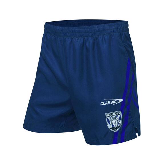 Canterbury-Bankstown Bulldogs 2021 Mens Training Shorts, Blue, rebel_hi-res