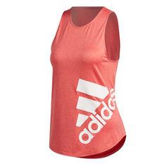 adidas Womens Key Item Graphic Training Tank Red XS, Red, rebel_hi-res