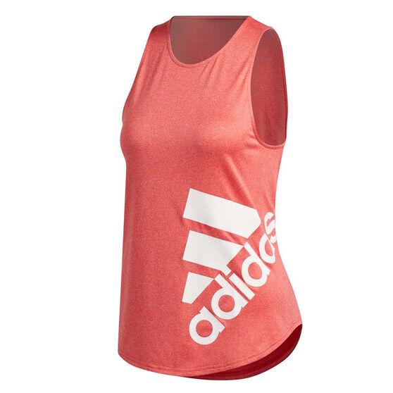 adidas Womens Key Item Graphic Training Tank, Red, rebel_hi-res
