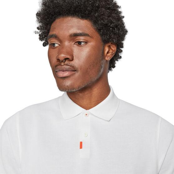 Nike Mens Dry-Fit The Nike 2.0 Polo, White, rebel_hi-res