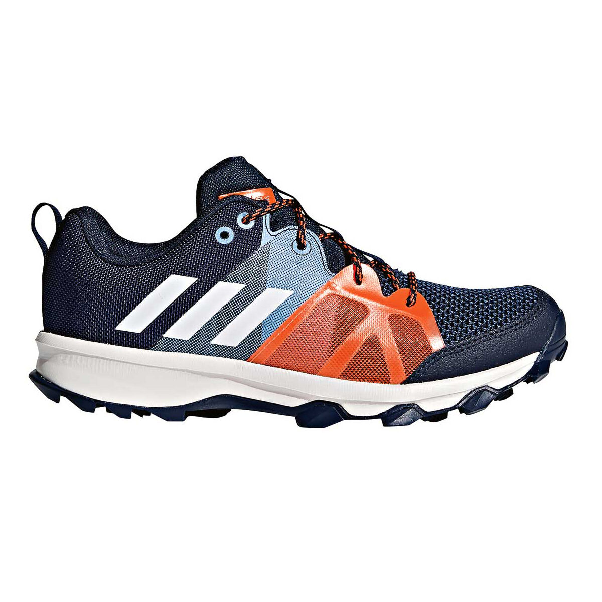 adidas Kanadia 8.1 Kids Running Shoes Navy White US 5