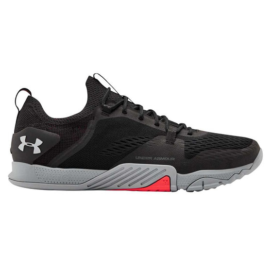 Under Armour Tribase Reign 2.0 Mens Training Shoes, Black / Grey, rebel_hi-res
