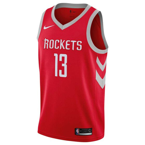 Nike Houston Rockets James Harden 2019 Swingman Jersey, University Red, rebel_hi-res