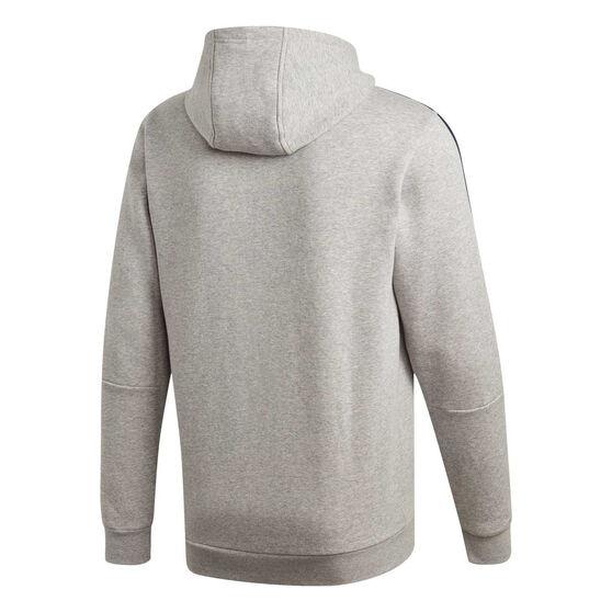 adidas Mens Essentials 3-Stripes Fleece Hoodie, Grey, rebel_hi-res