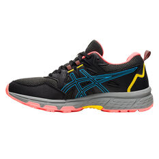 Asics GEL Venture 8 Womens Trail Running Shoes Black/Aqua US 6, Black/Aqua, rebel_hi-res