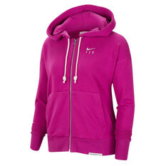 Nike Womens Swoosh Standard Issue Basketball Hoodie Purple XS, Purple, rebel_hi-res